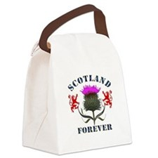 Scotland Forever Blue - Thistle Canvas Lunch bag