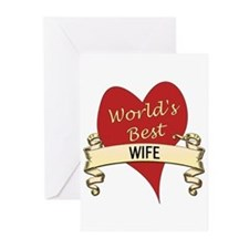 Cute Greatest wife Greeting Cards (Pk of 20)