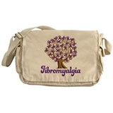 Fibromyalgia Purple Ribbon Tree Messenger Bag
