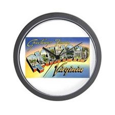 Richmond Virginia Greetings Wall Clock