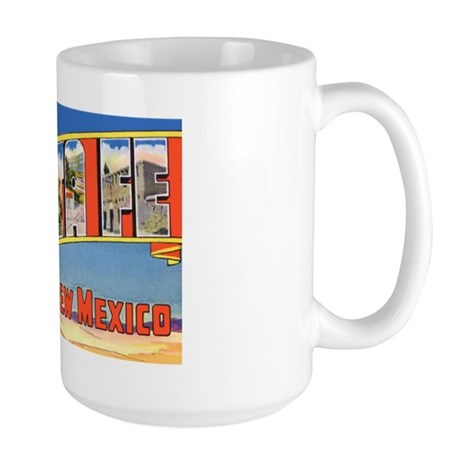 Santa Fe New Mexico Greetings Large Mug