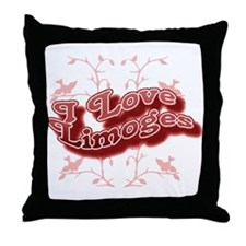 I Love Limoges Throw Pillow