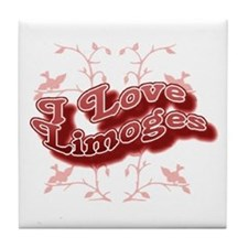 I Love Limoges Tile Coaster