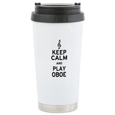 Keep Calm Oboe Ceramic Travel Mug