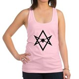 Unicursal hexagram (Black) Racerback Tank Top