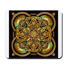 Yellow Celtic Tapestry Mousepad