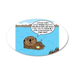 Mad Sea Otter 20x12 Oval Wall Decal