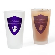 Lets Defeat Pancreatic Cancer Drinking Glass