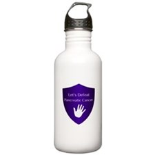 Lets Defeat Pancreatic Cancer Water Bottle