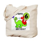 Dinosaur 6th Birthday Tote Bag