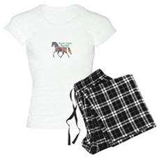 Personalised Women's Pyjamas - Colourful Horse