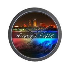 Niagara Falls Button Wall Clock