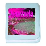 Venezuela art illustration baby blanket