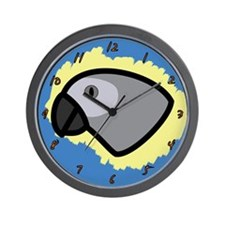 Anime African Grey Clock