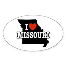 I Love Missouri Oval Decal