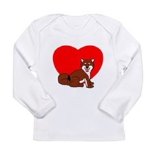 Shiba Heart Long Sleeve Infant T-Shirt
