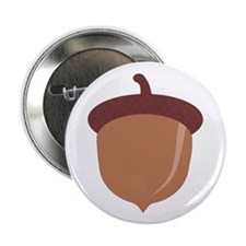 "Cute Cartoon Autumn Acorn 2.25"" Button (10 pack)"