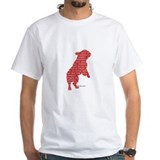 Red Word Silhouette (Beg) T-Shirt