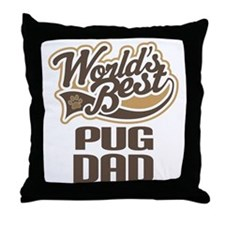 Pug Dad Dog Gift Throw Pillow