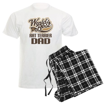Rat Terrier Dad Men's Light Pajamas