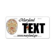 Maryland Firefighter Custom License Plate