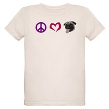 peacelovepugBLACK.png T-Shirt
