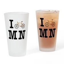 I Bike MN Drinking Glass