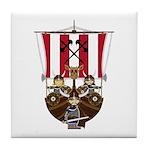 Vikings and Longship Tile Coaster