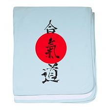 Aikido Grunge Kanji baby blanket