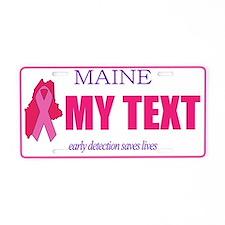 Maine pink ribbon license plate replica
