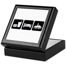 Eat Sleep Jet Ski Keepsake Box