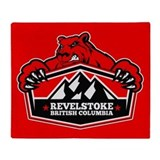 Revelstoke Red Bear Throw Blanket