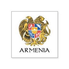 "Armenian Coat of Arms Square Sticker 3"" x 3&q"