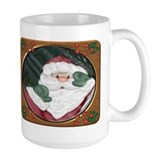 Santa Peeking In Window Mug