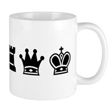 Coffee Mug - Chess symbols BLACK