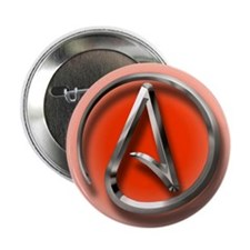 "Atheist Logo (red) 2.25"" Button (100 pack)"