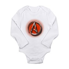 Atheist Logo (red) Baby Suit