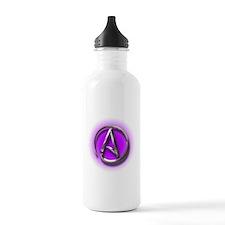 Atheist Logo (purple) Water Bottle