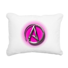 Atheist Logo (pink) Rectangular Canvas Pillow