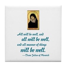 All Will Be Well Tile Coaster