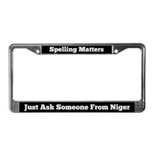 Spelling Matters License Plate Frame