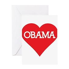 I Heart Barack Obama Greeting Card