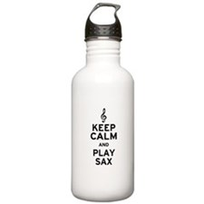 Keep Calm and Play Sax Water Bottle
