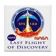 Last Flight of Discovery Tile Coaster