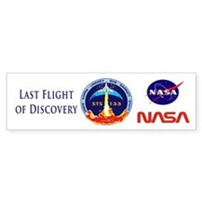 Last Flight of Discovery Bumper Sticker