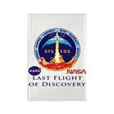Last Flight of Discovery Rectangle Magnet