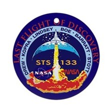 Last Flight of Discovery Ornament (Round)