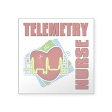 "Telemetry Nurse Square Sticker 3"" x 3"""