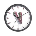 Glamor Brooch V Wall Clock