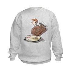 Thanksgiving Turkey Scale Kids Sweatshirt